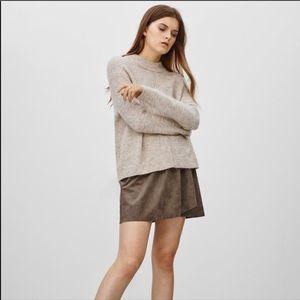 Aritizia Wilfred Free suede mini skirt